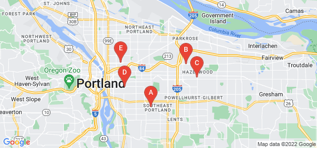 Google static map for Multnomah County