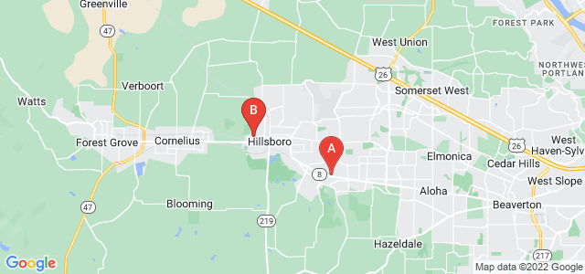 Google static map for Hillsboro