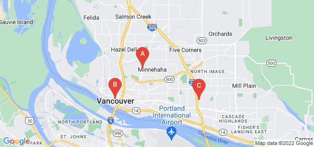Google static map for Vancouver