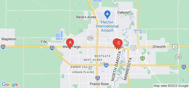Google static map for Fargo