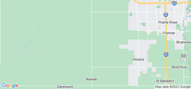 Google static map for Cass County