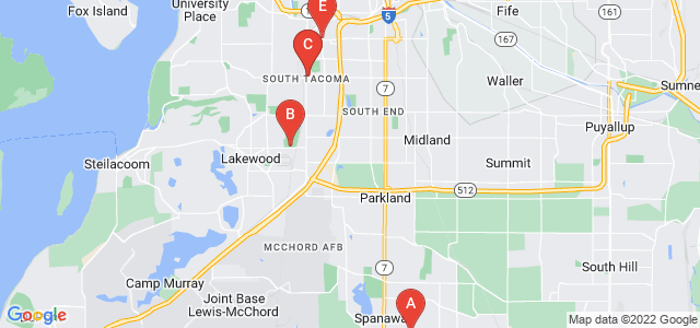 Google static map for Pierce County