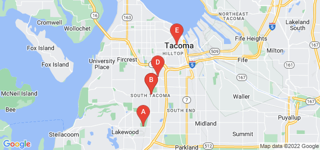 Google static map for Tacoma