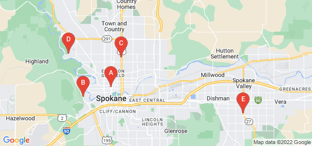 Google static map for Spokane County