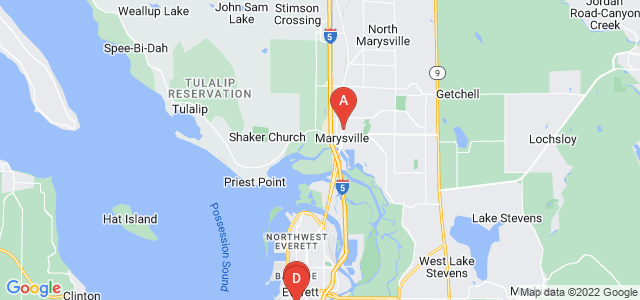 Google static map for Snohomish County