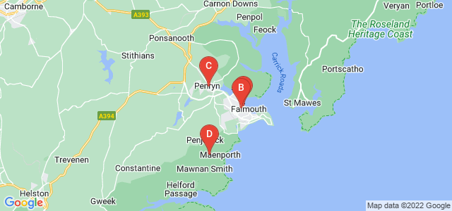 Google static map for Falmouth