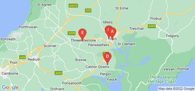 Google static map for Truro