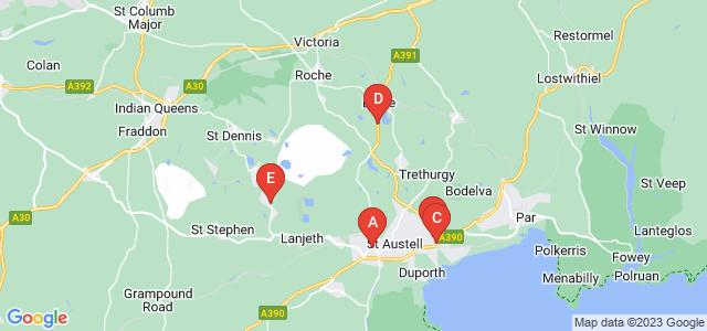Google static map for Saint Austell