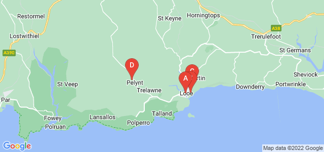 Google static map for Looe