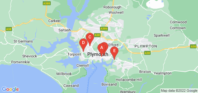 Google static map for Plymouth