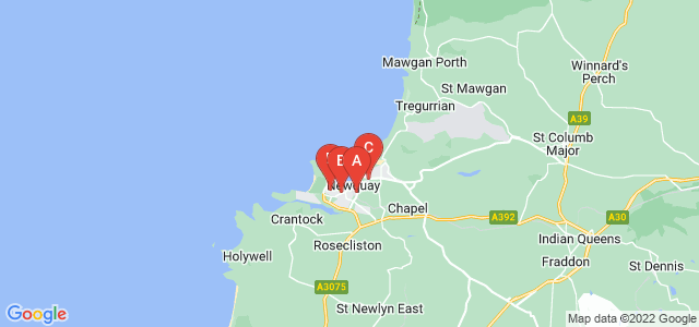 Google static map for Newquay