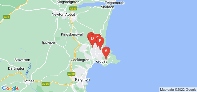 Google static map for Torbay