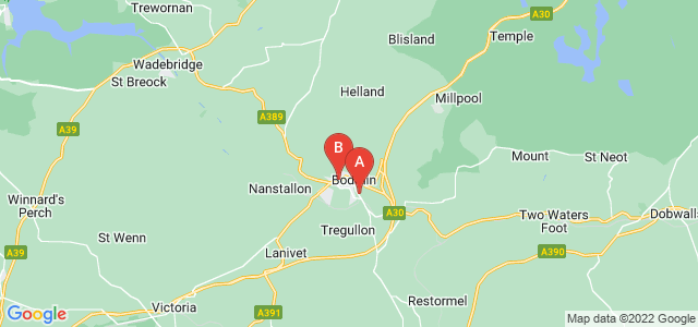 Google static map for Bodmin