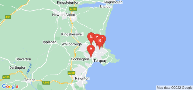 Google static map for Torquay