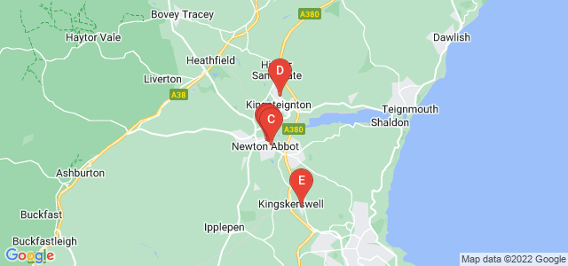 Google static map for Newton Abbot