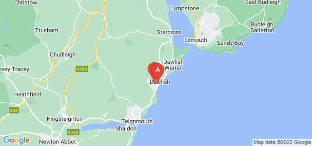 Google static map for Dawlish
