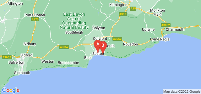 Google static map for Seaton