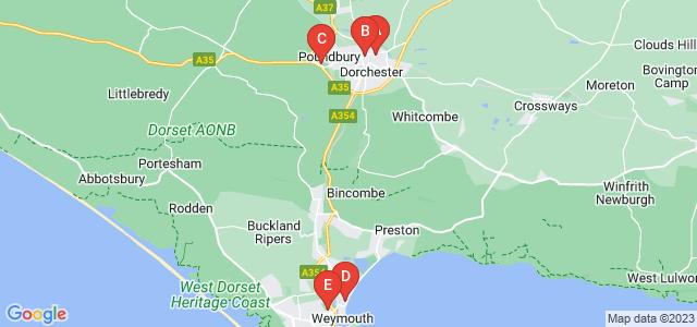 Google static map for Dorset