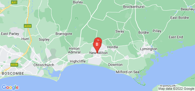 Google static map for New Milton