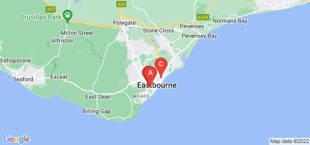 Google static map for Eastbourne