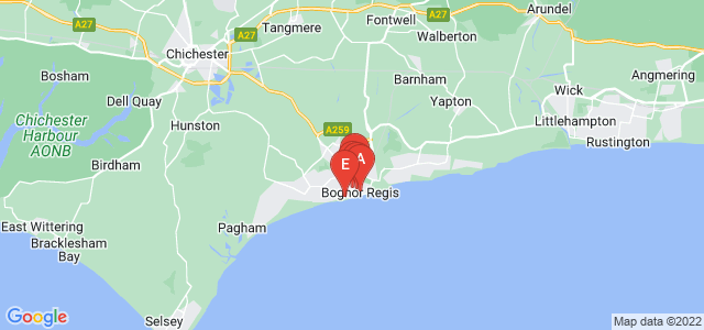Google static map for Bognor Regis