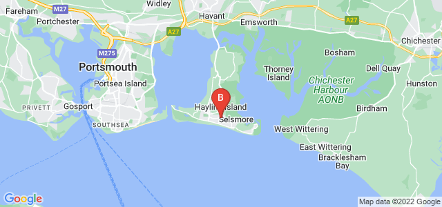 Google static map for Hayling Island