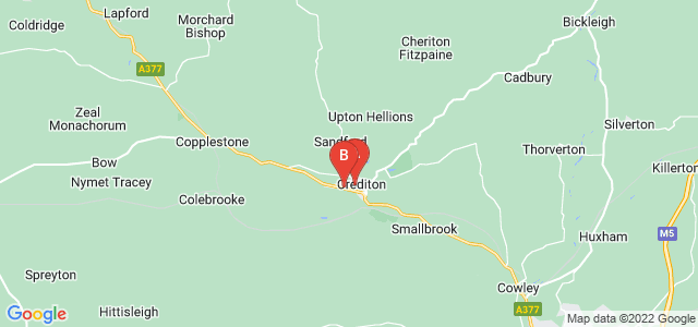 Google static map for Crediton