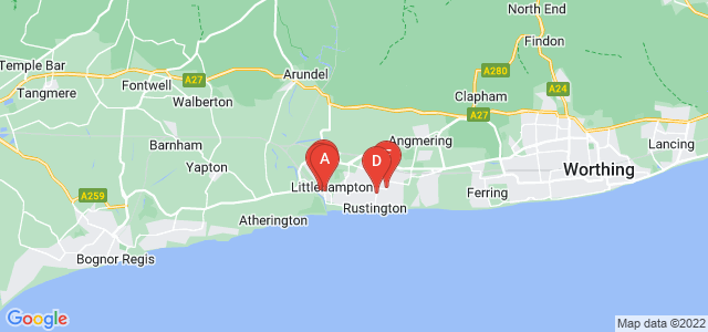 Google static map for Littlehampton