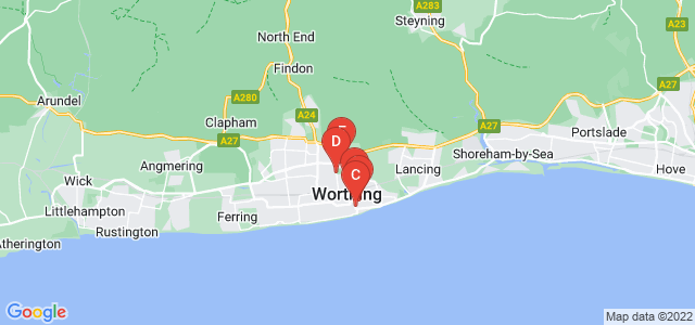Google static map for Worthing