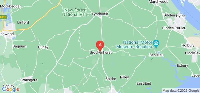 Google static map for Brockenhurst