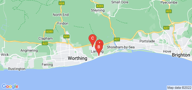 Google static map for Lancing