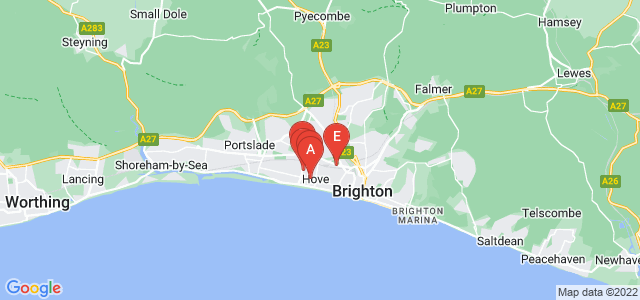 Google static map for Brighton And Hove