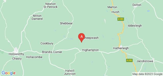 Google static map for Beaworthy