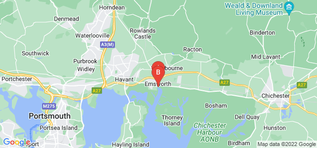 Google static map for Emsworth