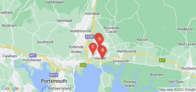 Google static map for Havant
