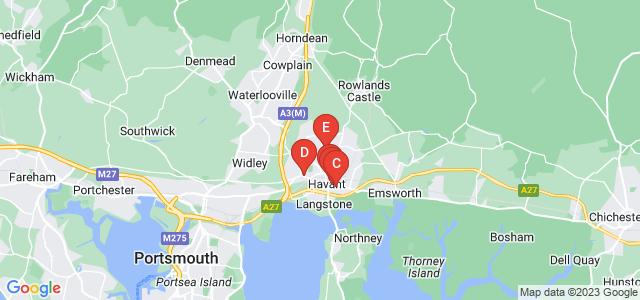 Google static map for Havant