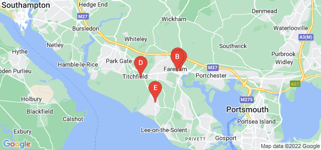 Google static map for Fareham