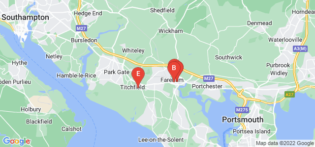 Google static map for Fareham