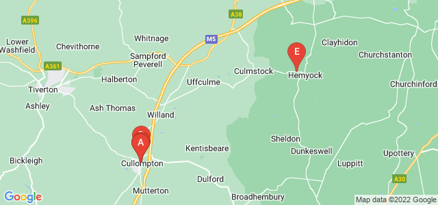 Google static map for Cullompton