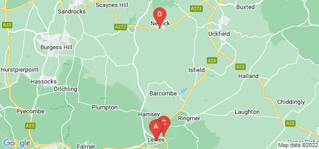 Google static map for Lewes