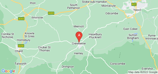 Google static map for Crewkerne