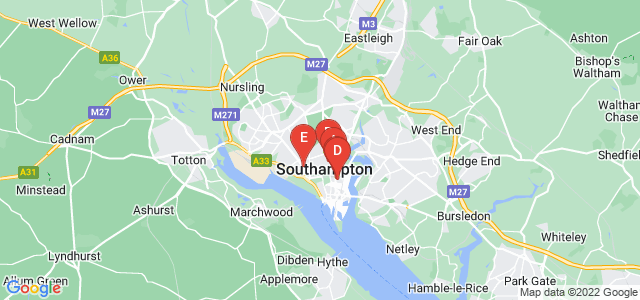 Google static map for Southampton