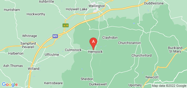 Google static map for Hemyock