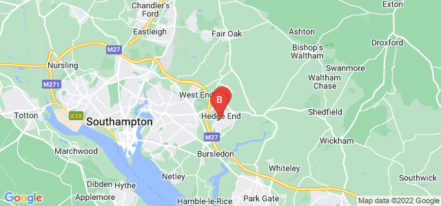 Google static map for Hedge End