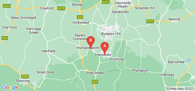 Google static map for Hassocks
