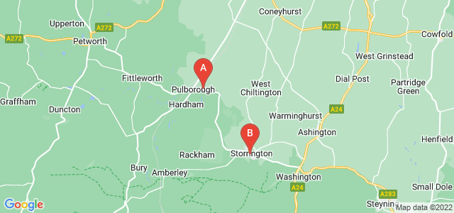 Google static map for Pulborough