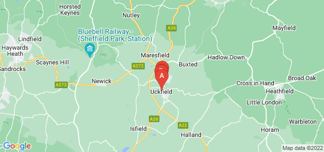 Google static map for Uckfield