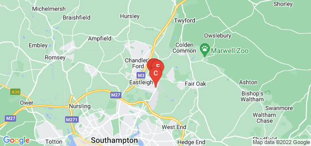 Google static map for Eastleigh