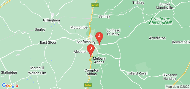 Google static map for Shaftesbury