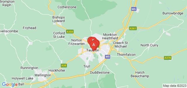 Google static map for Taunton